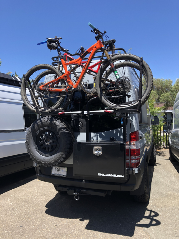 Owl Van Alu Box and Bike carrier  (not including bike racks)